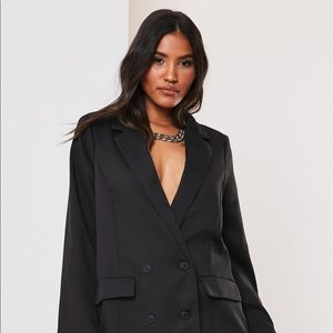 Black Co Ord Double Breasted Oversized Blazer
